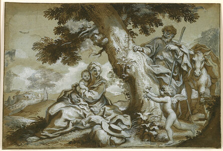 Paolo Gerolamo Piola, 'The Rest on the Flight into Egypt', 1690