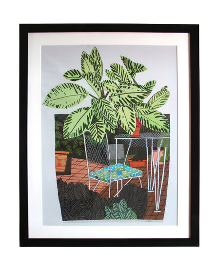 Jonas Wood, 'Landscape Pot with Flower Chair poster', 2015