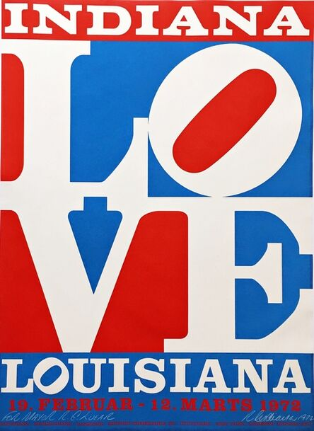 Robert Indiana, 'The American Love (Hand Signed and Inscribed to Richard Lugar, Mayor of Indianapolis who later became a distinguished US Senator)', 1972