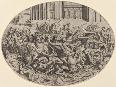 Enea Vico, 'The Battle of the Amazons [recto]', 1543
