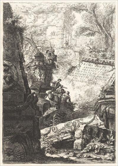 Giovanni Battista Piranesi and Francesco Piranesi, 'Prima Parte; Grotteschi; Carceri; Alcuna Vedute ...; Trofei di Ottaviano Augusto', published 1800/1809