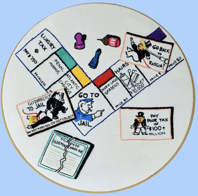 Tiny Pricks Project, 'Trumpopoly- Do Not Pass Go by Peggy Earle ', 2020