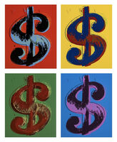 Andy Warhol, 'Dollars Signs (set of 4)', 1967 printed later