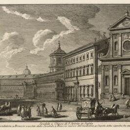 Giuseppe Vasi, 'Spedale e Chiesa di S. Spirito in Sassia', 1747-1801