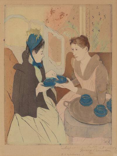 Mary Cassatt, 'Afternoon Tea Party', 1890/1891