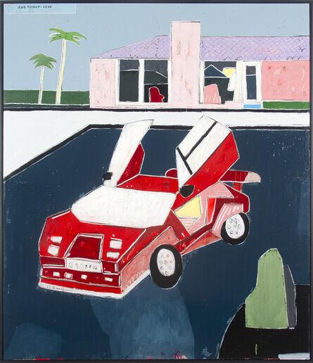 Rob Tucker, 'A Parked-Up Hollywood Hills Lamborghini. Hockney Style', 2020