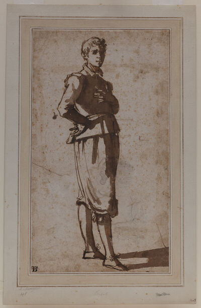 Jacopo Chimenti, 'Study of a Young Man.', before 1640