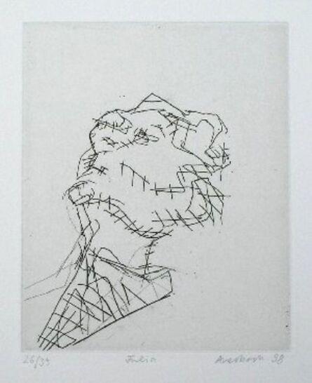 Frank Auerbach, 'Reclining Head of Julia', 1988