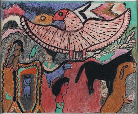 Nellie Mae Rowe, 'The Eagle Flies', 1979