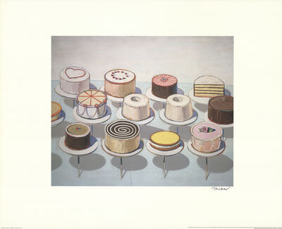Wayne Thiebaud, 'Cakes', 2008