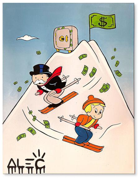 Alec Monopoly, 'Vault at the Peak Money Skiing ', 2020