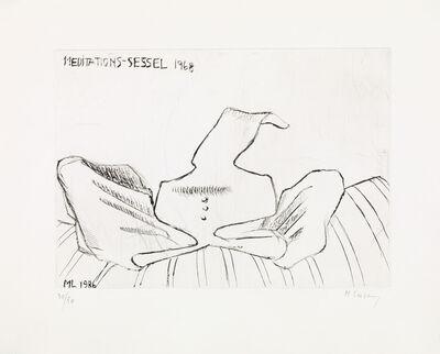 Maria Lassnig, 'Meditations-chair 1968', 1968