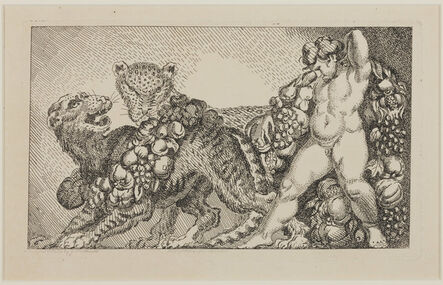James Northcote, 'Bacchus accompanied by a Leopard and a Tiger', ca. 1798