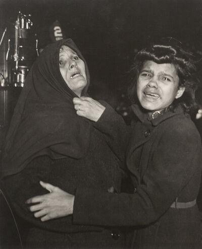 Weegee, 'Tenement Fire, Brooklyn', 1939