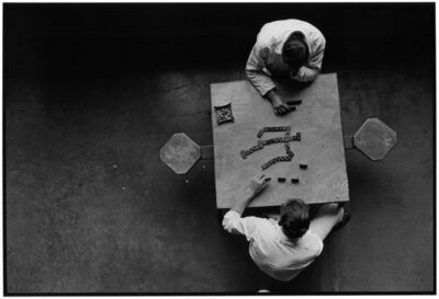 Danny Lyon, 'Dominoes, Cell Block Table, The Walls, Texas Department of Corrections', 1968