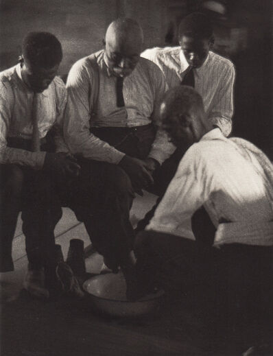 Doris Ulmann, 'Foot-Washing Ceremony, Four Men', Neg. date: 1933 c. / Print date:1933