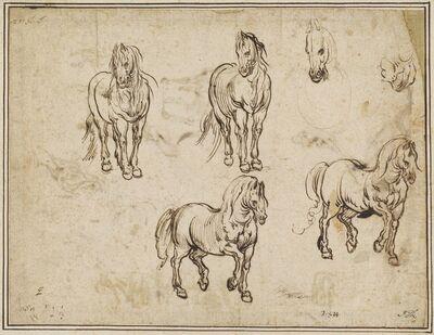 Jacques Callot after Antonio Tempesta, 'Studies of Horses [recto]', ca. 1612