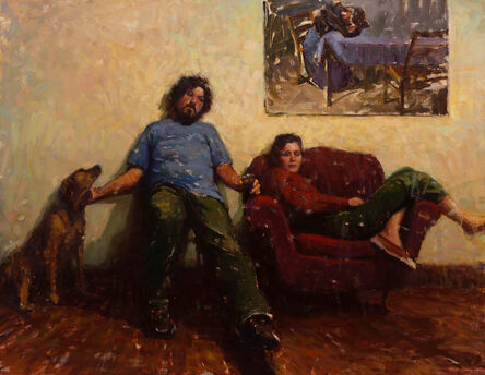 Carl Bretzke, 'Painter Friend and Friends', 2017