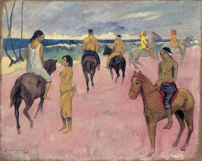 Paul Gauguin, 'Cavaliers sur la plage (II) (Riders on the Beach (II)', 1902