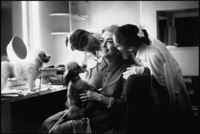 Eve Arnold, 'Actress Joan Crawford, with her twin daughters Kathy and Cindy and her poodles. Hollywood, California. USA.   ', 1959