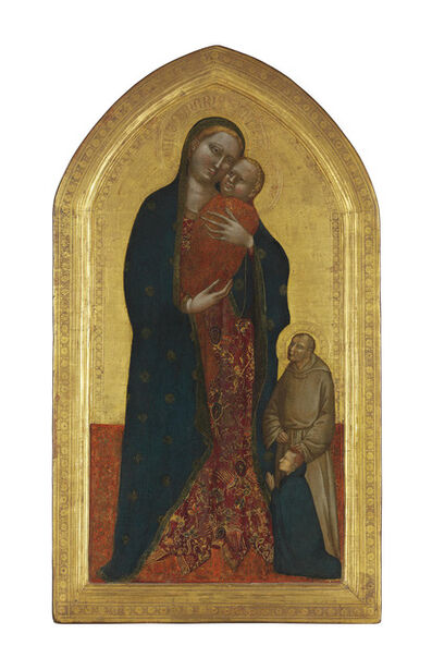 Jacopo di Cione, 'The Madonna and Child with a Franciscan Saint commending a male donor'