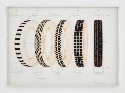 Richard Hamilton, 'Five Tyres Remoulded (Unique Colour Version)', 1971