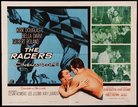 Anon, 'RACERS half-sheet original  American movie poster '55 Kirk Douglas, car racing!', 1955