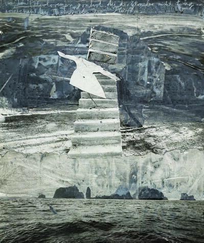 Anselm Kiefer, 'Von den verlorenen gerührt die der Glaube nicht trug erwachen die Trommeln im Fluß', 2005