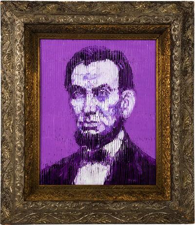 Hunt Slonem, 'Purple Abe', 2021