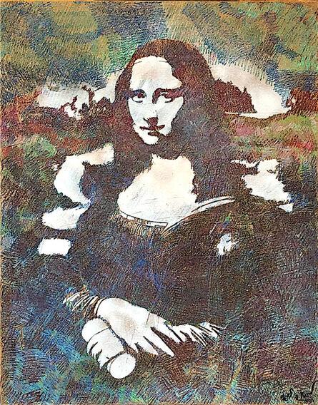 Blek le Rat, 'Mona Lisa', 2012