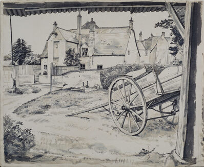 Michael Rothenstein, 'Cotswold House and Cart', 1939