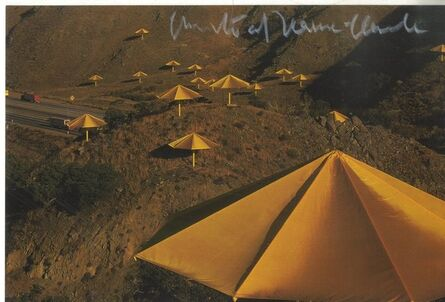 Christo, 'The Umbrellas Japan-USA (Hand Signed) from the private collection of Jeanne-Claude's former assistant', 1991