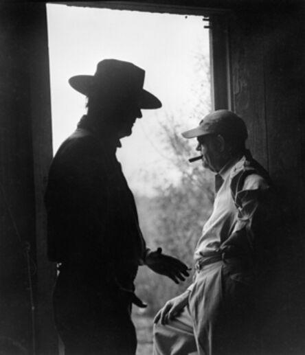 "Phil Stern, 'John Wayne and John Ford on the set of ""The Alamo""', 1960"