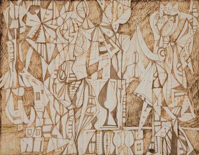 René Portocarrero, 'Figures in Interior', 1949