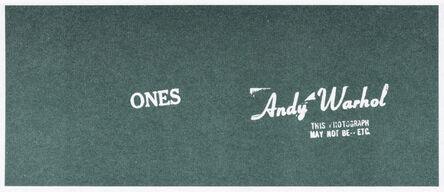 Andy Warhol, 'Andy Warhol Art Cash (Ones)', 1971