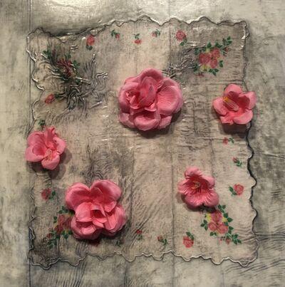 Sonya Kelliher-Combs, 'Pale Blue with Pink Rose', 2021