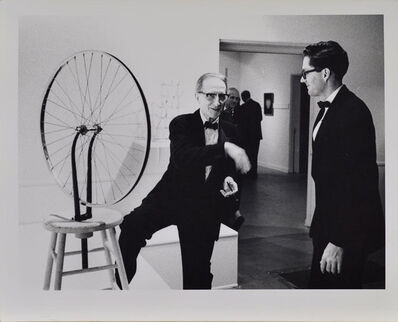 Julian Wasser, 'Duchamp with Walter Hopps, Duchamp Retrospective, Pasadena Art Museum', 1963