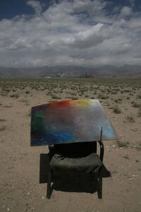 Liu Xiaodong, '《青藏铁路》调色板 Qinghai-Tibet Railway Palette', 2007