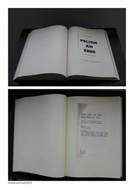 Jaro Varga, 'Untitled / Artist Book', 2010
