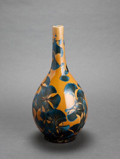 Hongwei Li, 'Dan ping vase, splash peacock blue glaze', 2017