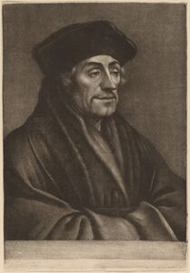 Wallerant Vaillant after Hans Holbein the Younger, 'Erasmus'