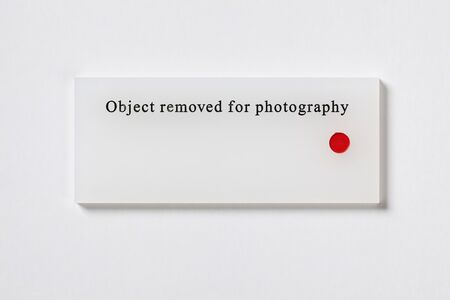 Anna Blessmann and Peter Saville, 'Object removed for photography', 2008