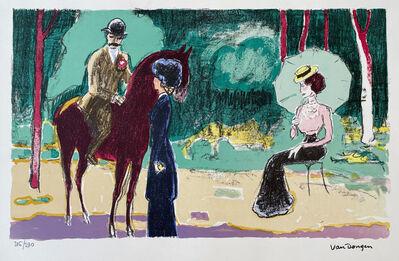 Kees van Dongen, 'meeting in the Woods', 1950