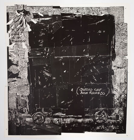 William Kentridge, 'That which I do not remember from Triumphs and Laments Woodcuts', 2017