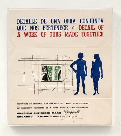 Edgardo Antonio Vigo, 'Detalle de una obra conjunta que nos pertenece. [Detail of a work of ours made together]', 1978