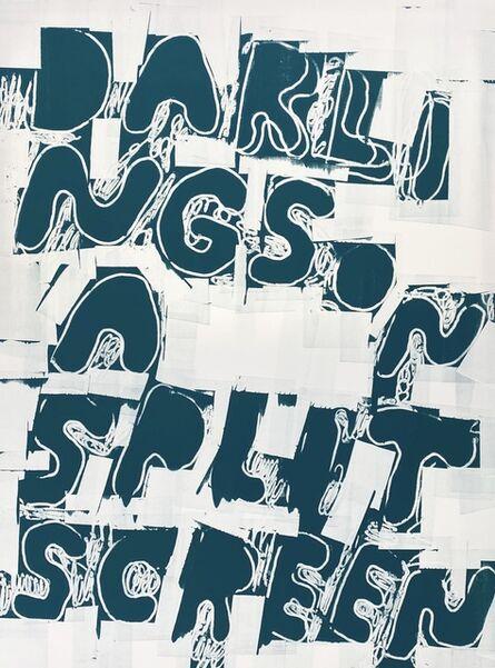 Stefan Marx, 'Darlings On A Splitscreen (Negativ)', 2021