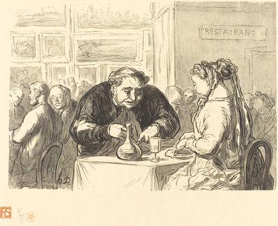 Etienne after Honoré Daumier, 'Au buffet de l'Exposition des Beaux-Arts', 1868