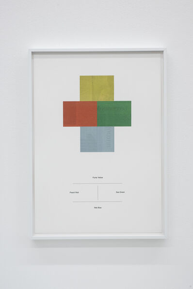 Ignasi Aballí, 'Translations of a Japanese dictionary of colour combinations (Part II)', 2018