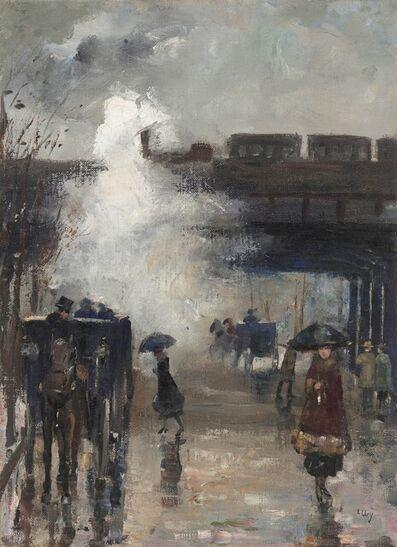 Lesser Ury, 'Alexanderplatz, Berlin', ca. 1915-20