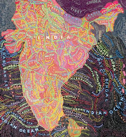 Paula Scher, 'India', 2010